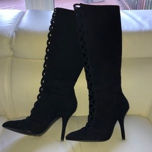 Brand new black suede boots Nine West